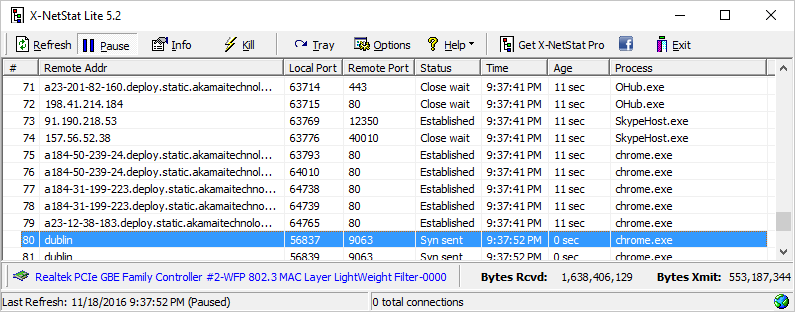 X-NetStat Lite - Suivre les connexions réseau en temps réel - Gratuit [Giveaway] 1